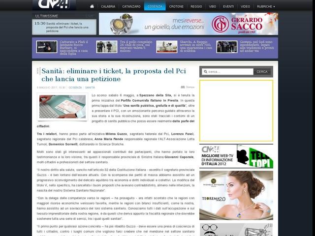 Sanità: eliminare i ticket, la proposta del Pci che lancia una petizione