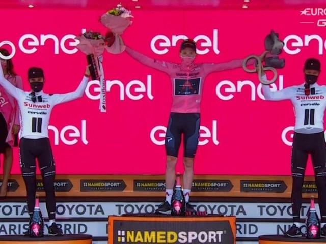 Tao Geoghegan Hart vince il Giro d'Italia, l'ultima tappa è di Filippo Ganna