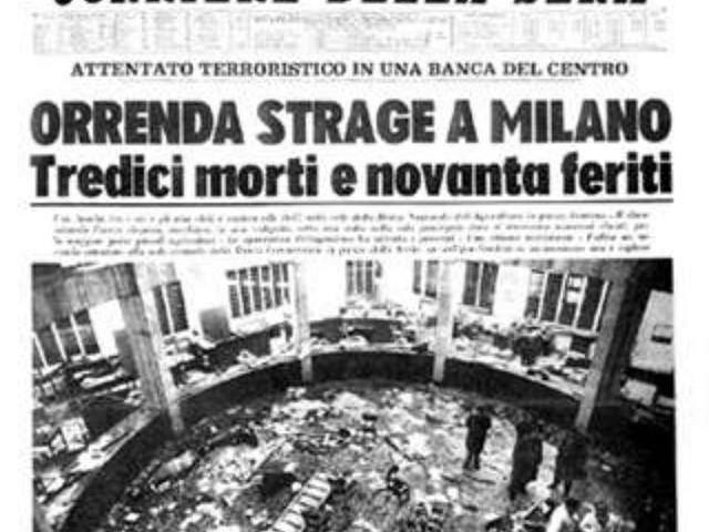 12 dicembre 1969 – LA STRAGE DI STATO