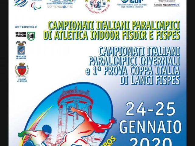 Atletica paralimpica: Ancona ospita i Campionati Italiani Indoor ed Invernali di Lanci