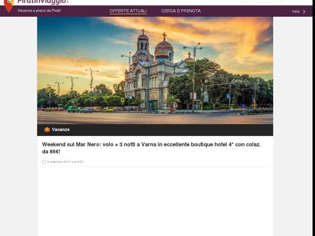 Weekend sul Mar Nero: volo + 3 notti a Varna in eccellente boutique hotel 4* con colaz. da 86€!