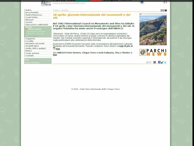 PN Cinque Terre - 18 aprile: giornata internazionale dei monumenti e dei siti