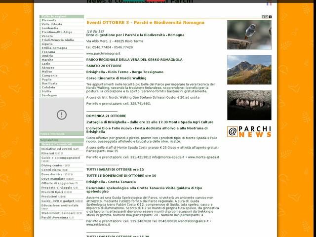 Ente di gestione per i Parchi e la Biodiversita' - Romagna - Eventi OTTOBRE 3 - Parchi e Biodiversità Romagna