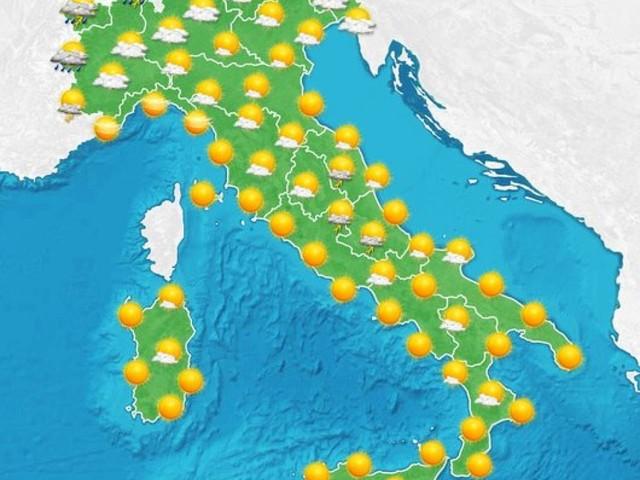 Transito di temporali al Nord, da Domenica stabile e via via più caldo, fino a 40° Martedì