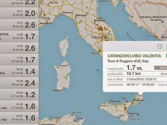 Terremoto l'app per iPhone e iPad si aggiorna alla vers 3.9.96
