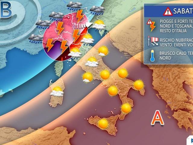 Meteo, NEL WEEKEND CAMBIA TUTTO, in arrivo MALTEMPO, NUBIFRAGI e BRUSCO CALO TERMICO