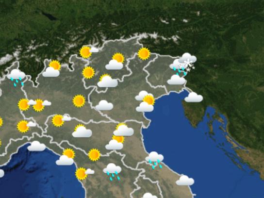 Le previsioni del tempo per domani, lunedì 9 dicembre