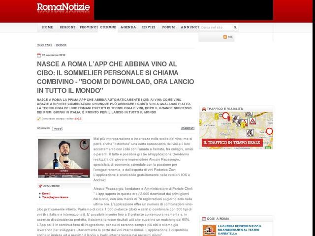 """Nasce a Roma l'app che abbina vino al cibo: il sommelier personale si chiama Combivino - """"Boom di download, ora lancio in tutto il mondo"""""""