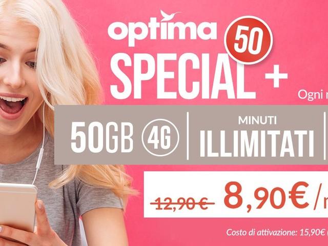 Optima Mobile per il Black Friday con 50 Special+: pioggia di giga in super sconto
