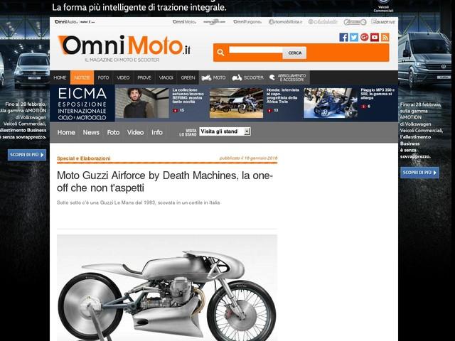 Moto Guzzi Airforce by Death Machines, la one-off che non t'aspetti