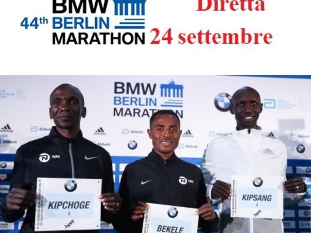 Diretta Maratona Berlino: domani dalle ore 9 in 3 a caccia del record mondiale