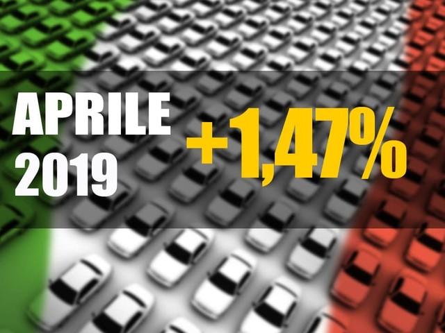 Mercato italiano - Le immatricolazioni tornano a crescere: +1,47% ad aprile