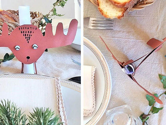 Fai da te la renna porta menu per la tavola delle feste