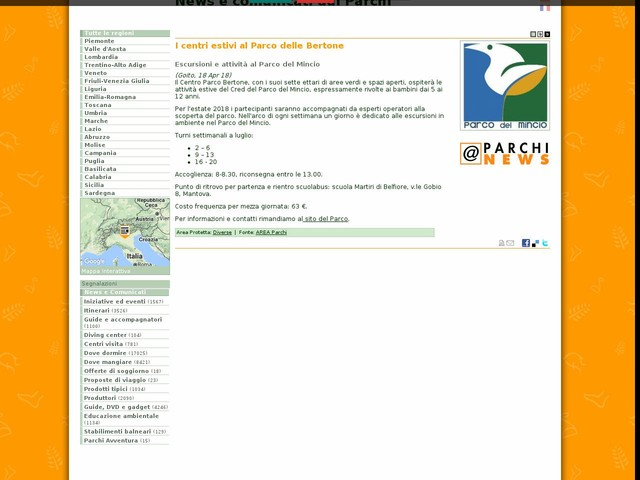 AREA Parchi - I centri estivi al Parco delle Bertone