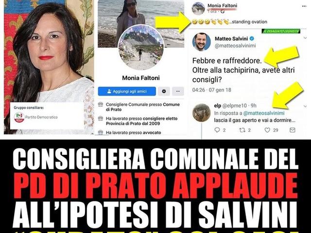 """Dalla dem insulti choc a Salvini: """"Vai a dormire con il gas aperto"""""""