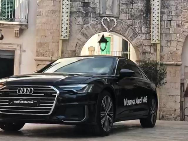 Martina Franca: presentazione delle due nuove Audi immortalate in valle d'Itria fra un centro storico e una masseria Concessionaria Basile, la A6 e la Q8 protagoniste stasera