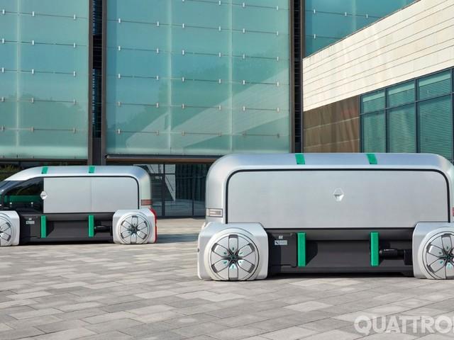 Renault Ez-Pro - Elettrica e autonoma: così sarà la consegna merci in città