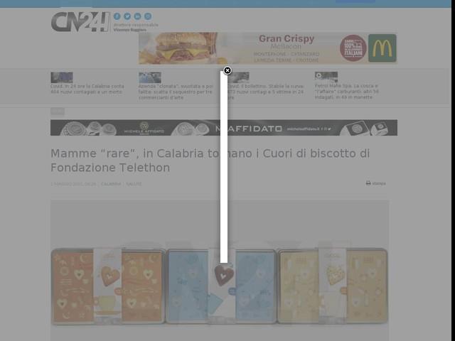 """Mamme """"rare"""", in Calabria tornano i Cuori di biscotto di Fondazione Telethon"""