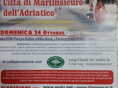 A Martinsicuro finalmente è tempo di corsa podistica con il Trofeo Città di Martinsicuro dell'Adriatico
