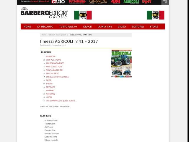 I mezzi AGRICOLI n°41 – 2017
