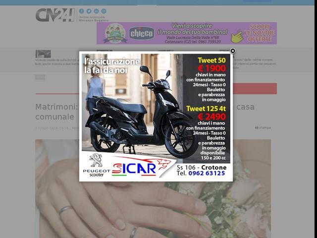 Matrimoni: a Reggio ci si potrà sposare fuori dalla casa comunale