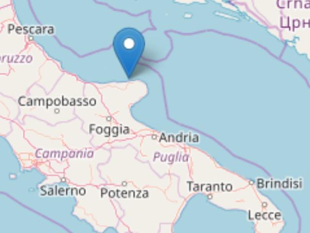 Terremoto: magnitudo 2. Epicentro al largo di Rodi Garganico La lieve scossa a tre chilometri dalla costa è stata registrata alle 7,11