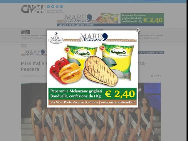 Miss Italia Calabria: le reginette alla partita Cosenza-Pescara