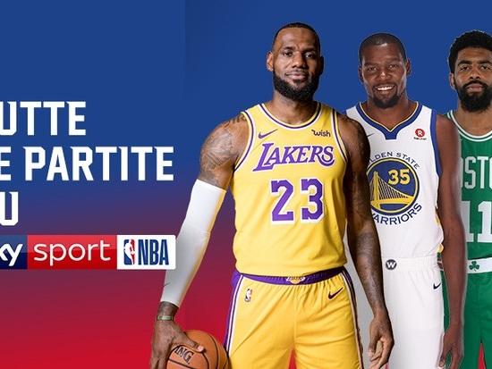 Nuova stagione su Sky Sport NBA, fino a 12 incontri alla settimana