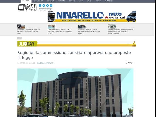Regione, la commissione consiliare approva due proposte di legge