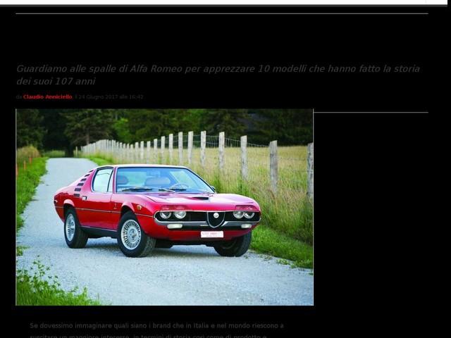 Alfa Romeo: i 10 modelli più belli per celebrare il 107° compleanno