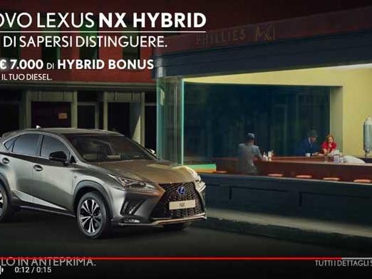 Lo spot Lexus NX Hybrid dedicato all'arte: titolo canzone della pubblicità