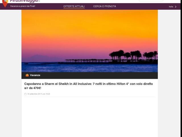 Capodanno a Sharm el Sheikh in All Inclusive: 7 notti in ottimo Hilton 4* con volo diretto a/r da 470€!