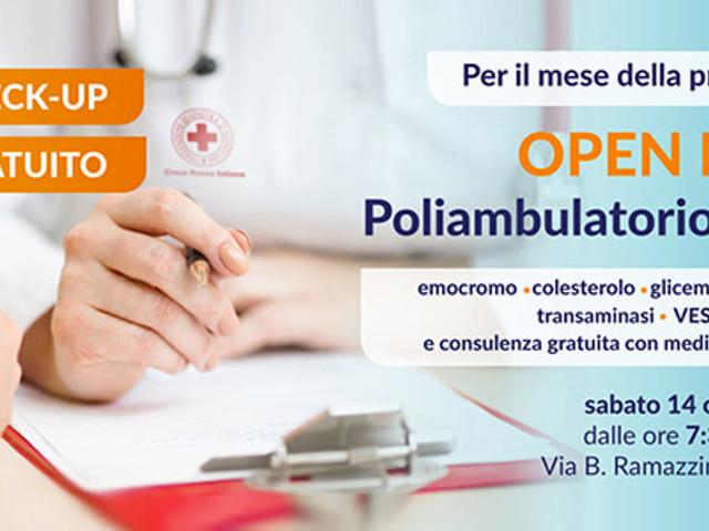 Il 14 Ottobre Open Day al Poliambulatorio della Croce Rossa Italiana con check-up e analisi gratuite