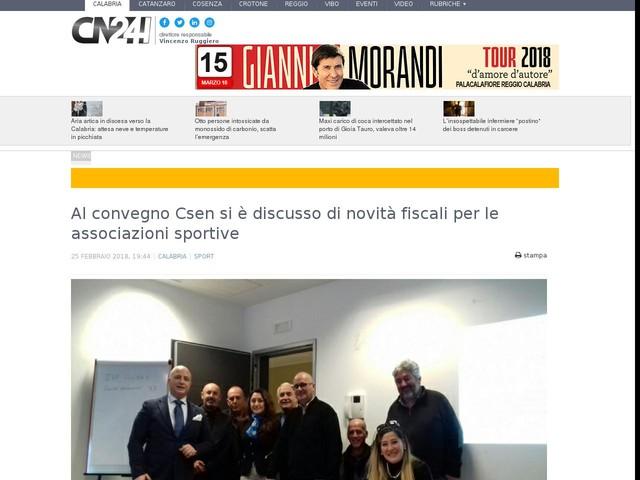 Al convegno Csen si è discusso di novità fiscali per le associazioni sportive