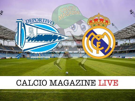 Liga, Deportivo Alaves – Real Madrid: diretta live e risultato