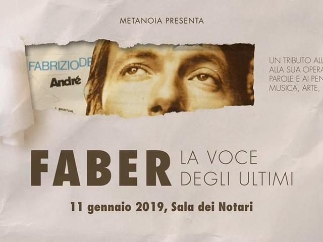 FABER, La voce degli ultimi | Tributo a Fabrizio De Andrè a Perugia