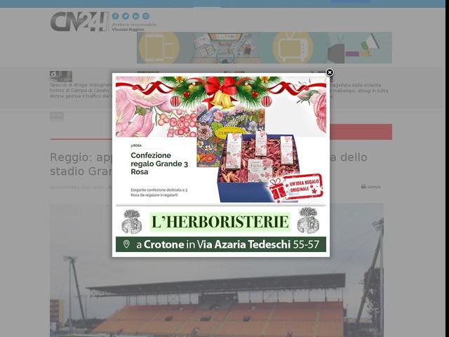 Reggio: approvata fattibilità dei lavori di copertura dello stadio Granillo