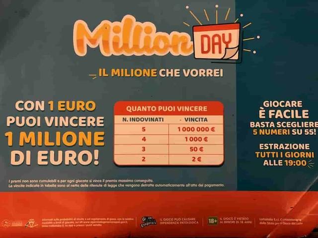 Million Day, estrazione oggi lunedì 3 maggio 2021: numeri e combinazione vincente Million Day di oggi