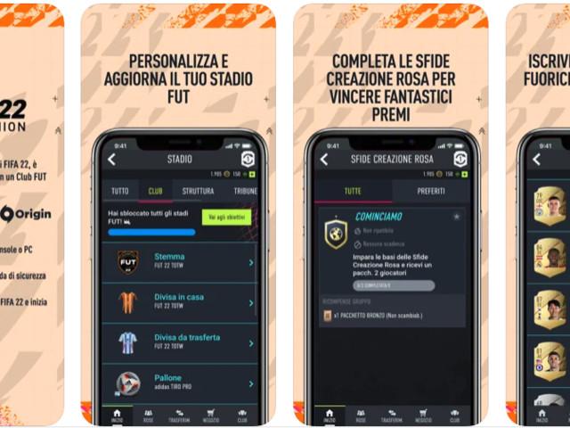 L'app Companion di FIFA 22 disponibile su App Store