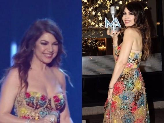 Cristina D'Avena ai Seat Music Awards: con maxi scollatura e paillettes è più glamour che mai