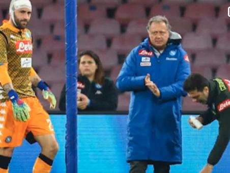 Napoli-Udinese, paura per Ospina: si accascia ed esce in barella