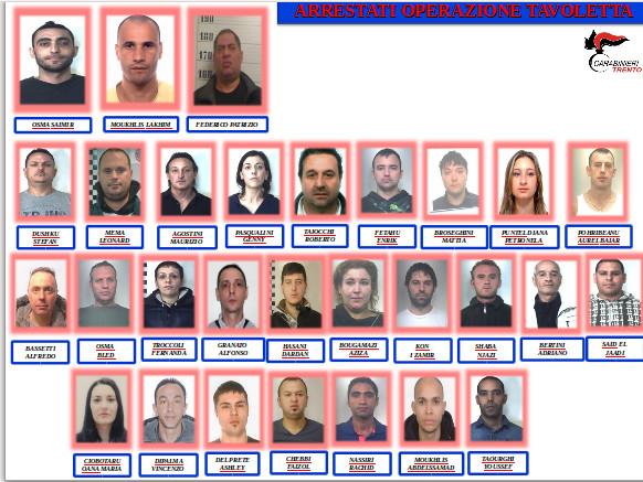 Maxi operazione antidroga «Tavoletta», per i 48 imputati 175 anni di reclusione