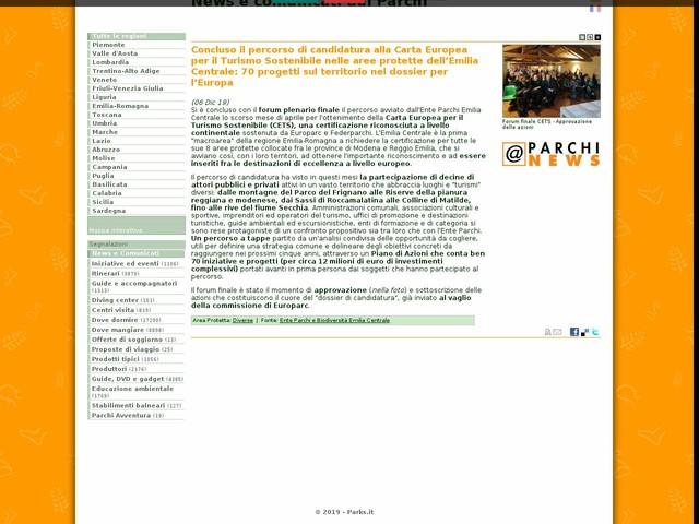 Ente Parchi e Biodiversità Emilia Centrale - Concluso il percorso di candidatura alla Carta Europea per il Turismo Sostenibile nelle aree protette dell'Emilia Centrale: 70 progetti sul territorio nel dossier per l'Europa