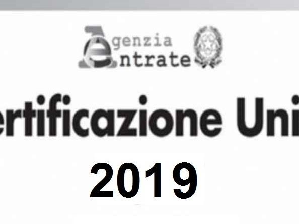 Certificazione Unica CUD 2019: quando arriva?