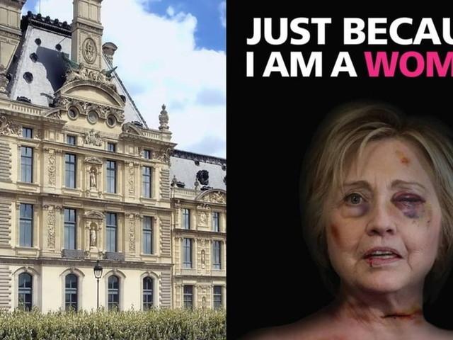Le donne della politica mondiale vittime di violenza, la campagna di AleXsandro Palombo al Louvre