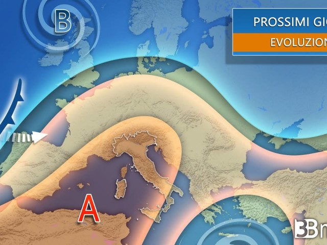 Meteo. ANTICICLONE dominante al Centro-Nord, tempo ancora instabile al Sud in settimana