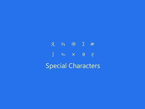 Come digitare caratteri speciali