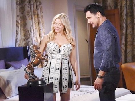 Beautiful anticipazioni: Brooke indossa un vestito di soldi per chiedere a 'Dollar Bill' di sposarla