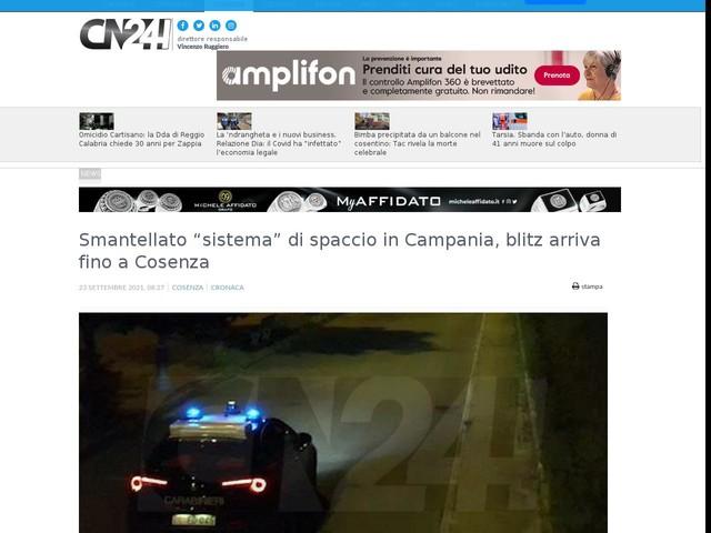 """Smantellato """"sistema"""" di spaccio in Campania, blitz arriva fino a Cosenza"""
