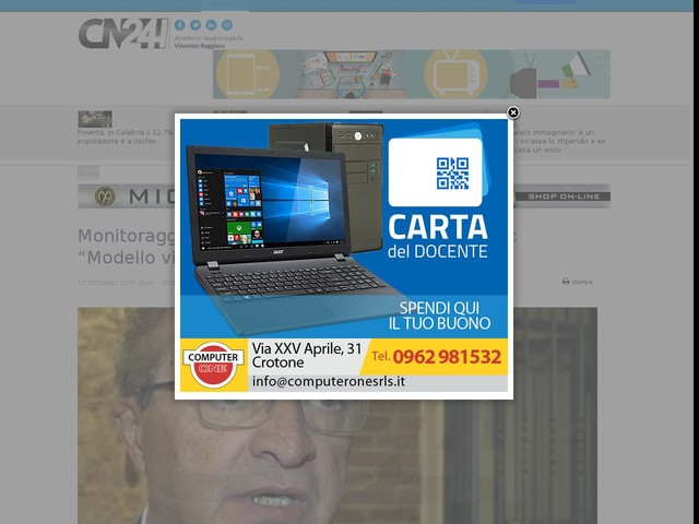 """Monitoraggio Sprar Cosenza, il presidente Iacucci: """"Modello virtuoso"""""""